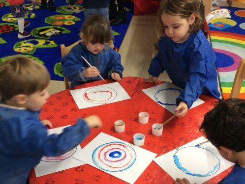 Preschool explore writing for a purpose as they play