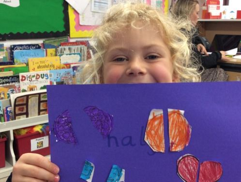 Preschool learn about halving and sharing