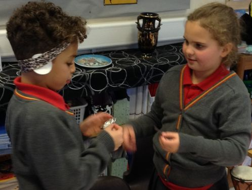 Year 3 consider which material has the biggest impact on sound