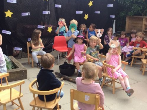 Preschool enjoy 'Room on the Broom'
