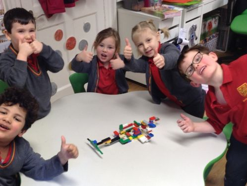 Reception have fun with numbers