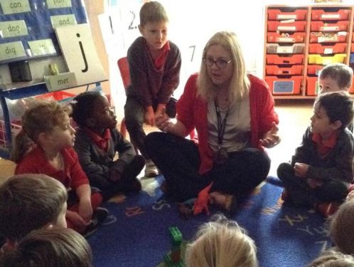 Reception explore the world of dinosaurs