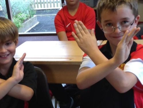 Year 4  pretend to be 'The Geezers'