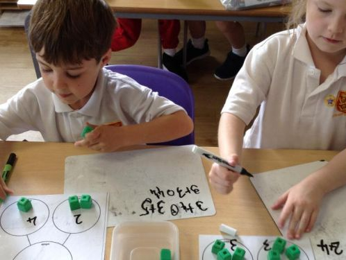 Year 1 do some problem solving in Maths