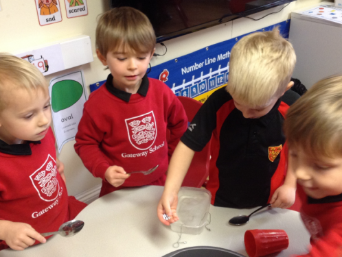 Reception - ice experiments and subtraction