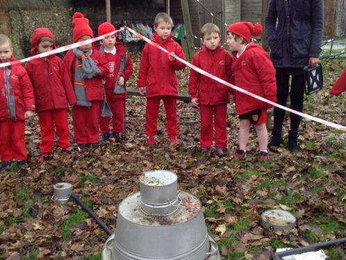 Year 1 investigate a mysterious crash landing on the school field