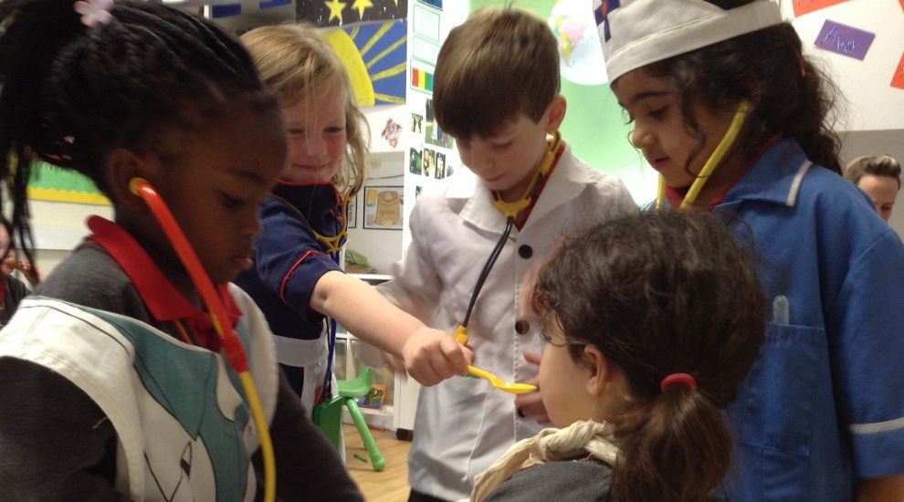 Reception children role play Doctors and Nurses