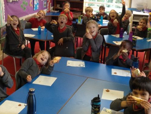 Year 2 make delicious samosas