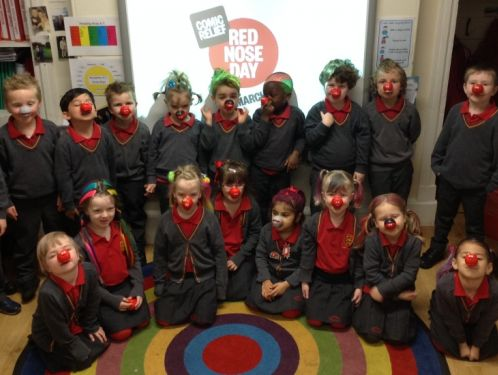 Reception children enjoy Red Nose Day