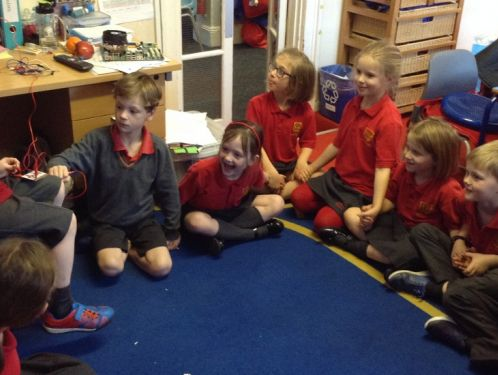 Year 2 get their hands on MakeyMakey technology