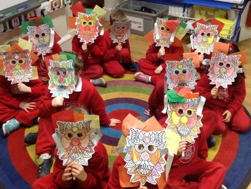 Reception children create wonderful dragon masks