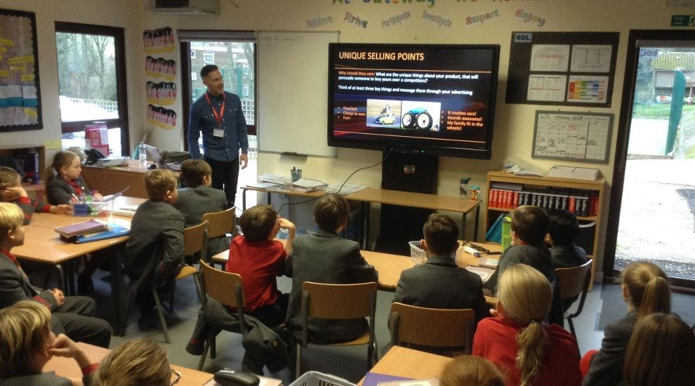 Year 5 learn all about advertising from Mr Turner