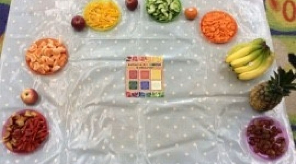 Preschool learn about nutritious eating habits