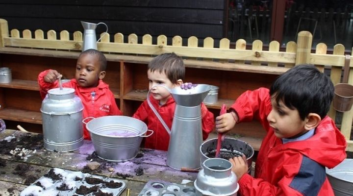 Mud Kitchen introduced for Preschool