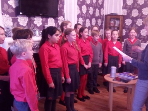 Chamber choir sing at Woodlands Care Home and for Age Concern Lunch