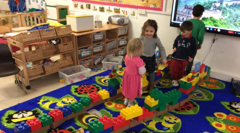 Preschool recreate the Great Wall of China!