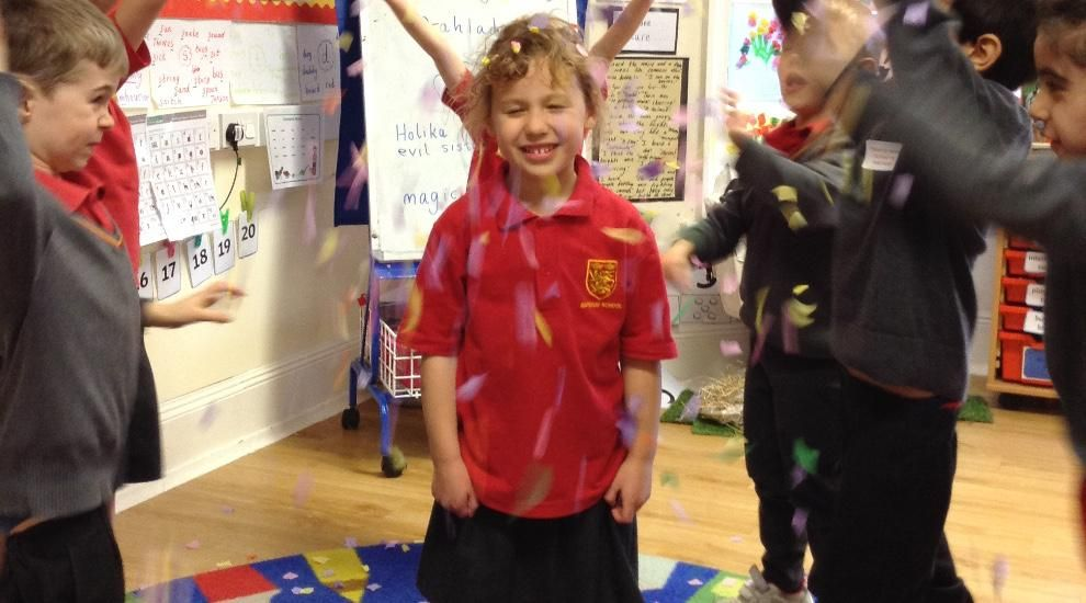 Reception learn about the Festival of Holi