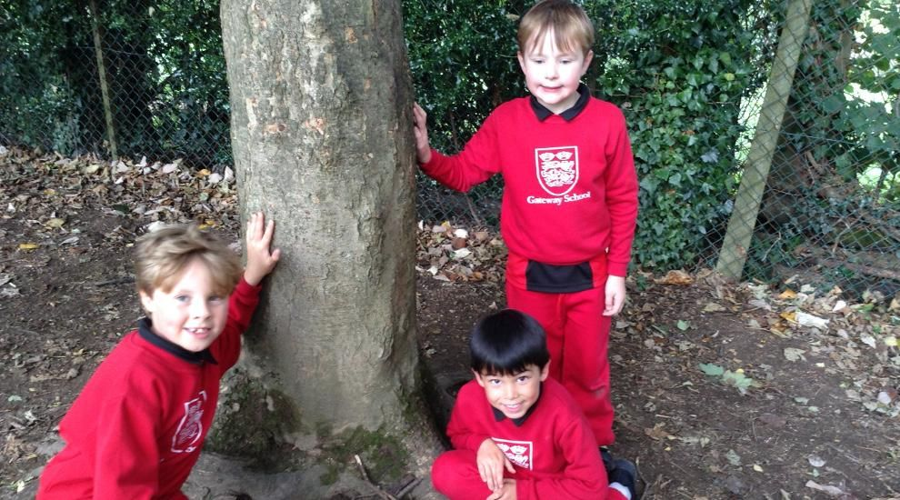 Year 2 use their imaginations in Forest School