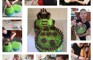 Collage castle cake