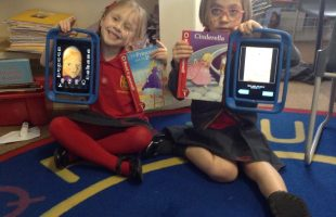 Copy of Year 1 Sienna and Elsie use Morfo to highlight their favourite fairy tale character