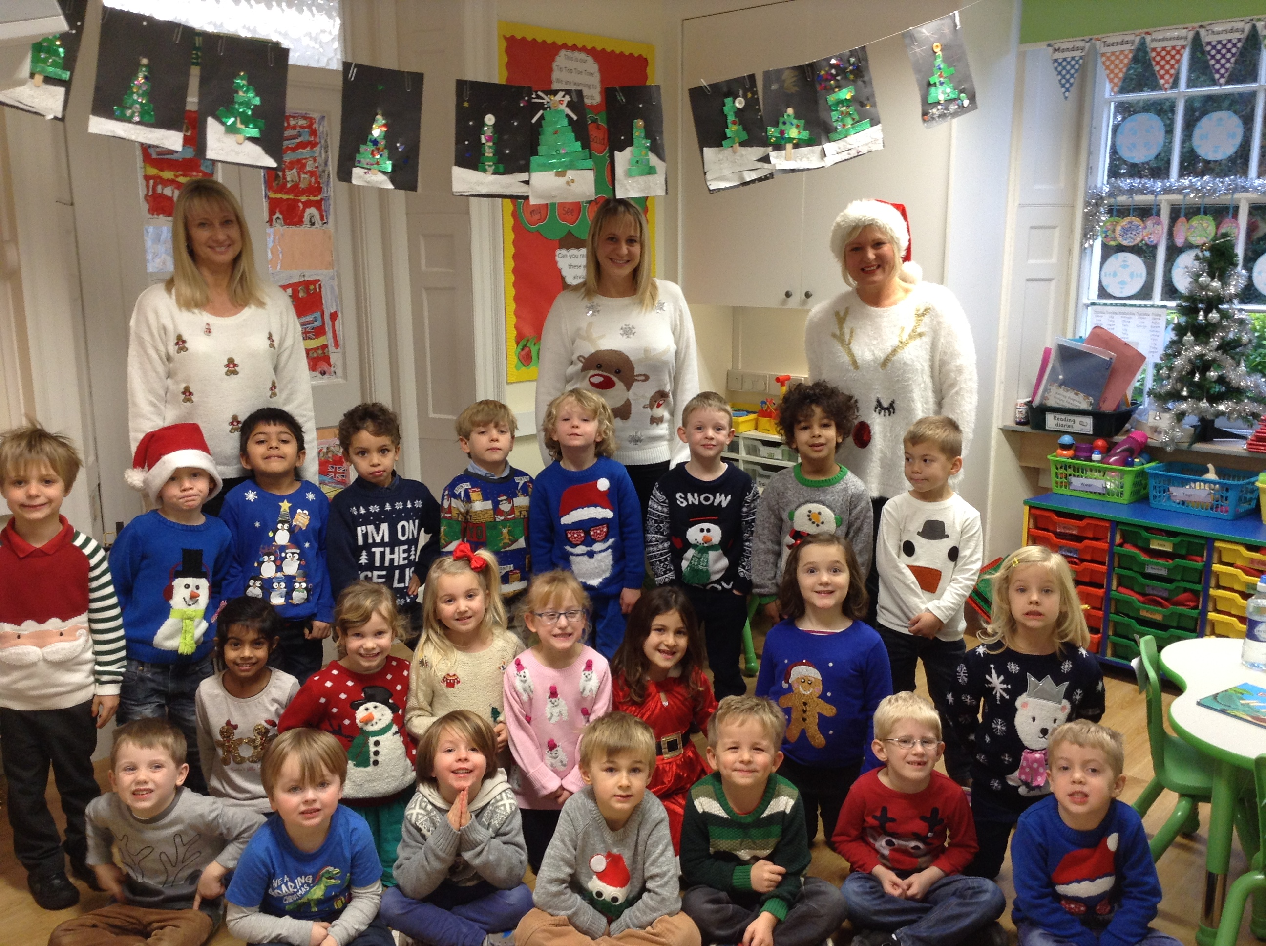Reception get into the festive spirit with their fantastic Christmas jumpers!