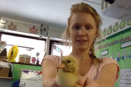 Louise and duckling best pic